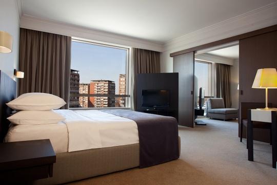 Junior middle apartman - spavaća soba; foto: